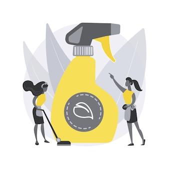 Illustrazione di concetto astratto di pulizia verde.