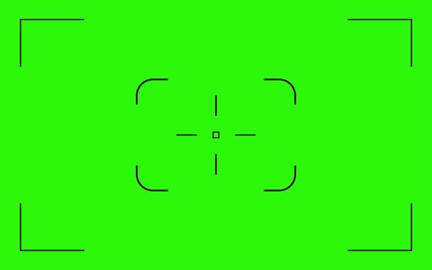 Colore verde chroma key vettore sfondo schermo telecamera notturna mirino militare overlay chroma