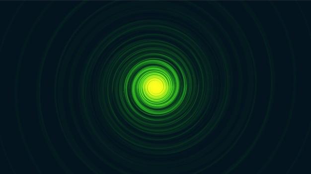 Green comic spiral black hole su soft blue galaxy background.planet e fisica concept design, illustrazione vettoriale.