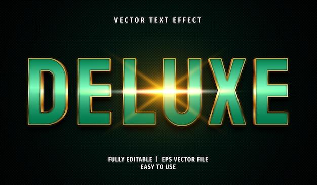 Effetto testo deluxe verde, stile di testo modificabile