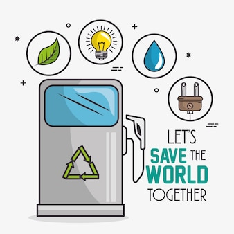 Priorità bassa di concetto di eco verde