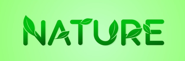 Lettera di ecologia verde per il logo della natura