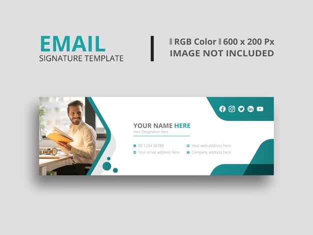 Design della firma e-mail verde