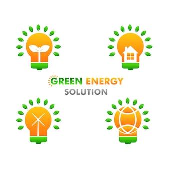 Concetto di design dell'illustrazione dell'energia rinnovabile e pulita dell'illustrazione dell'energia verde su fondo bianco