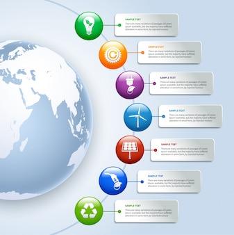 Infografie di energia verde