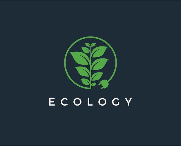 Modello di logo di energia verde