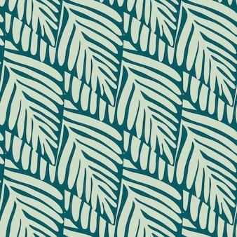 Reticolo senza giunte della pianta esotica verde. modello tropicale, foglie di palma sfondo floreale vettoriale senza soluzione di continuità.