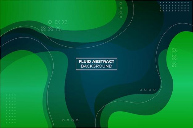 Sfondo di forma semplice astratta gradiente fluido verde