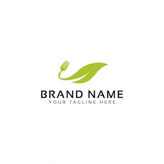 Logo di cibo verde