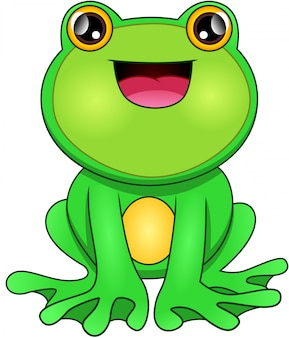 Cartone animato rana verde