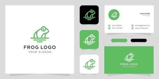 Logo di simbolo icona creativa rana verde
