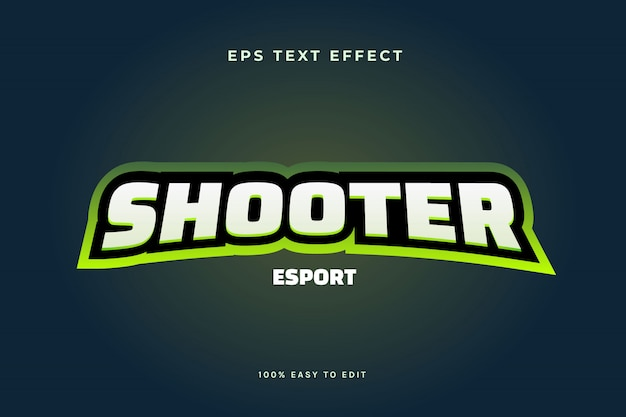 Effetto di testo logo esport di gioco verde