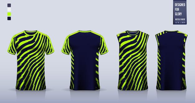T-shirt sportiva astratta geometrica verde uniforme