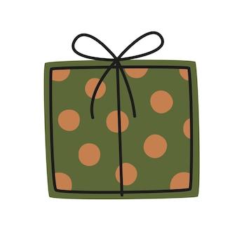 Confezione regalo verde. elemento decorativo vettoriale