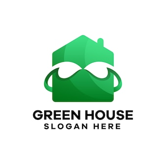 Design del logo sfumato della casa verde