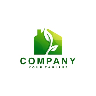 Logo sfumato della casa verde