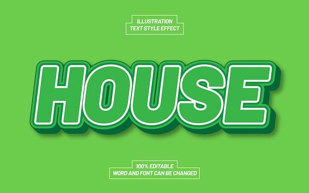 Effetto stile testo casa verde