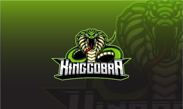 Mascotte di cobra re verde