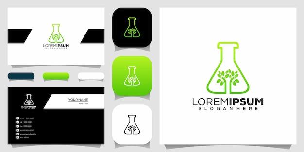 Progettazione di logo di laboratorio verde
