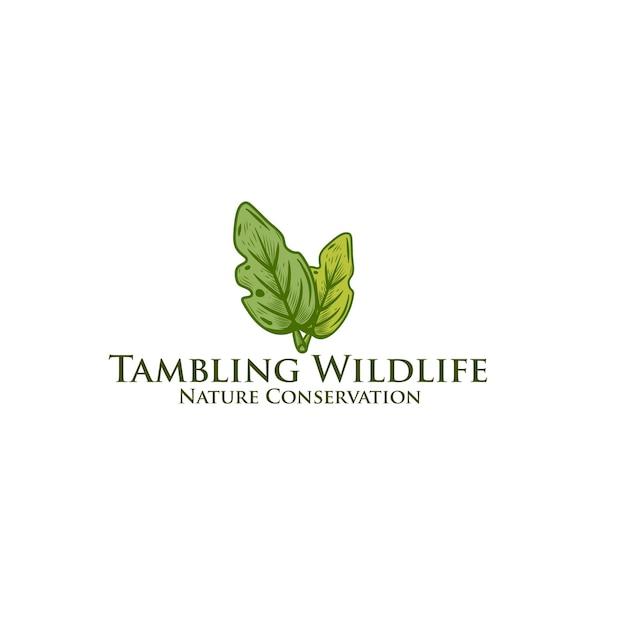 Ispirazione per il design del logo foglia verde