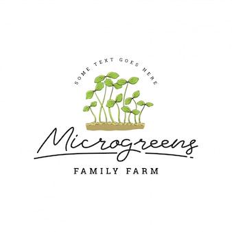 Modello di logo verde foglia o pianta
