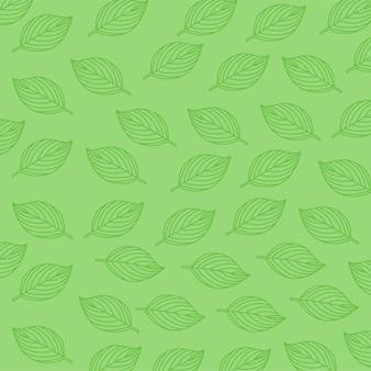 Sfondo di illustrazione di foglie verdi