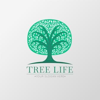 Modello di simbolo di logo albero di vita verde