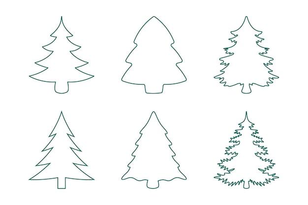 Collezione albero di natale linea verde