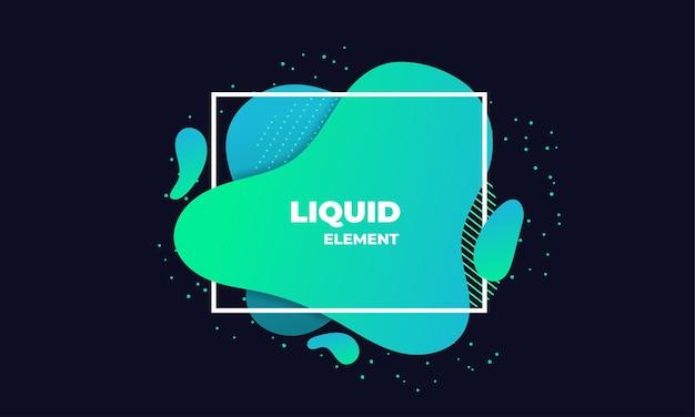 Illustrazione di elemento astratto liquido verde