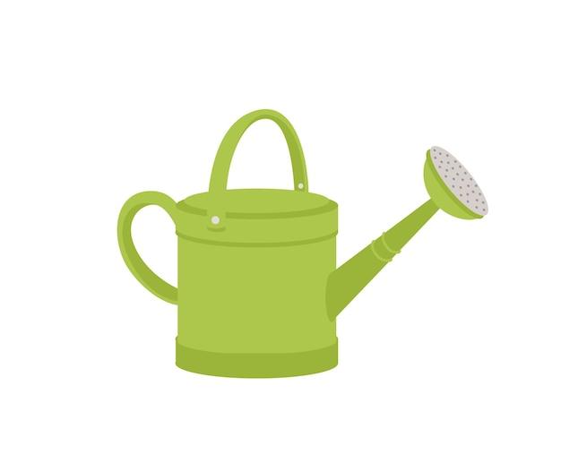 Annaffiatoio in metallo verde o vaso isolato su bianco