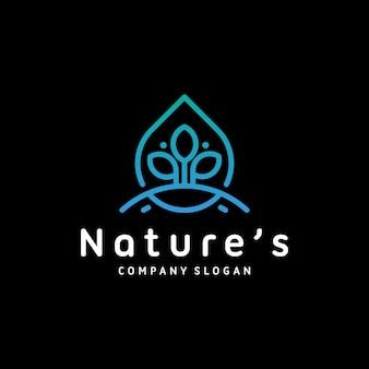 Modello di logo di natura verde