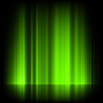 Aurora boreale verde, aurora boreale.