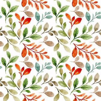 Reticolo senza giunte dell'acquerello di foglie di arancio verde