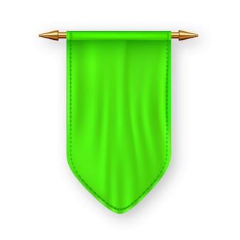 Bandiera pennat verde
