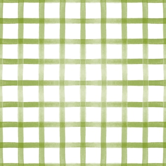 Modello senza cuciture semplice dell'acquerello di tartan plaid verde