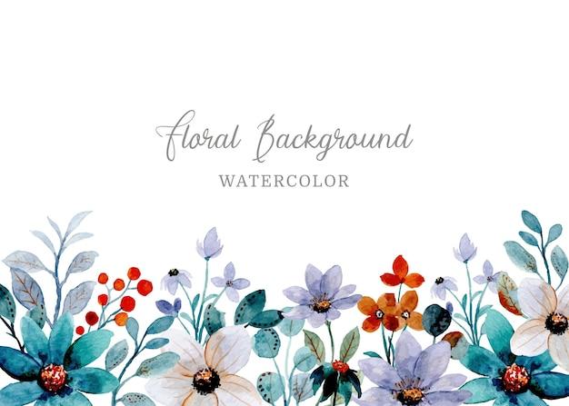 Fondo astratto dell'acquerello floreale viola verde