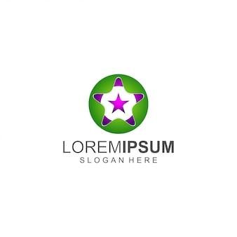 Logo star verde e viola