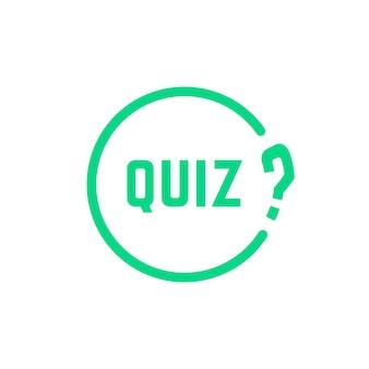 Icona di quiz semplice rotondo verde. concetto di soluzione, sondaggio, scelta, tempo di gioco, ricercatore, problema, problema, soluzione. stile piatto tendenza logotipo moderno design arte illustrazione vettoriale su sfondo bianco