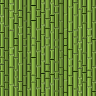 Modello senza cuciture verde di bambù Vettore Premium