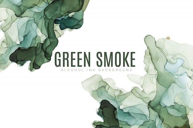 Priorità bassa dell'acquerello di tonalità verde, liquido bagnato, struttura dell'acquerello di vettore disegnato a mano