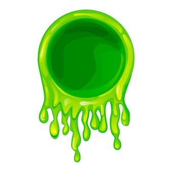 Cornice di melma verde