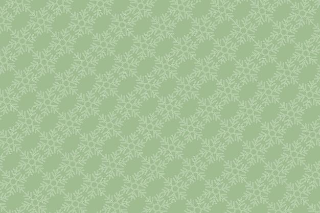 Sfondo verde con motivo a fiocco di neve