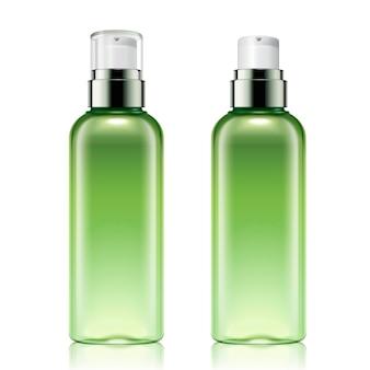 Set di mockup di flaconi spray verdi