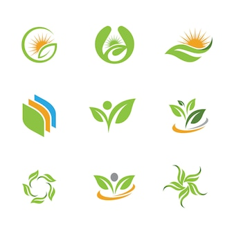 Green tree foglia ecologia natura elemento vettoriale design