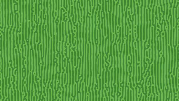 Sfondo di reazione di turing verde. modello di diffusione astratto con forme caotiche. illustrazione vettoriale.