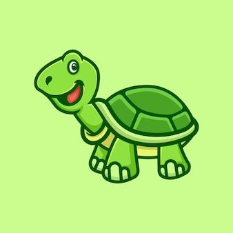 Modello di progettazione di logo di tartaruga verde