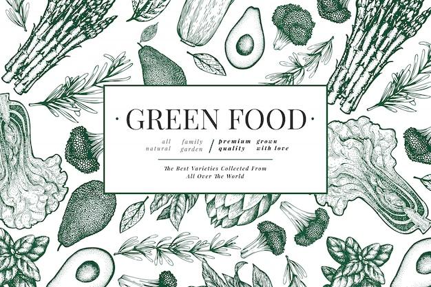 Modello di verdure verdi.