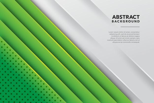 Sfondo verde bianco linea astratta