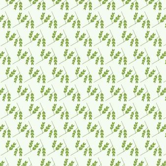 Verde su sfondo bianco del modello delle foglie della natura