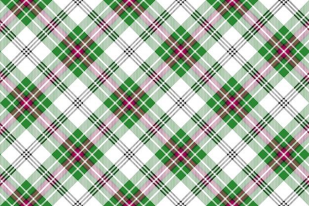 Fondo senza cuciture del plaid di tartan diagonale rosa bianco verde